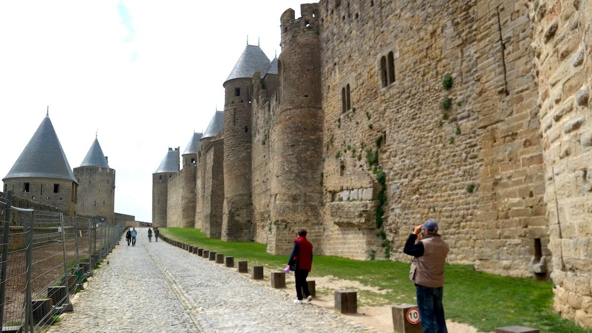Carcassonne i Frankrike - en befäst medeltidsstad