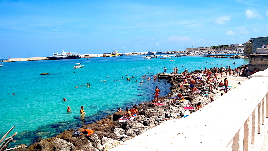 Badplats i södra Italien