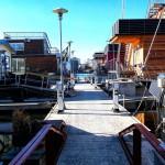 Besök av resebloggare i husbåten