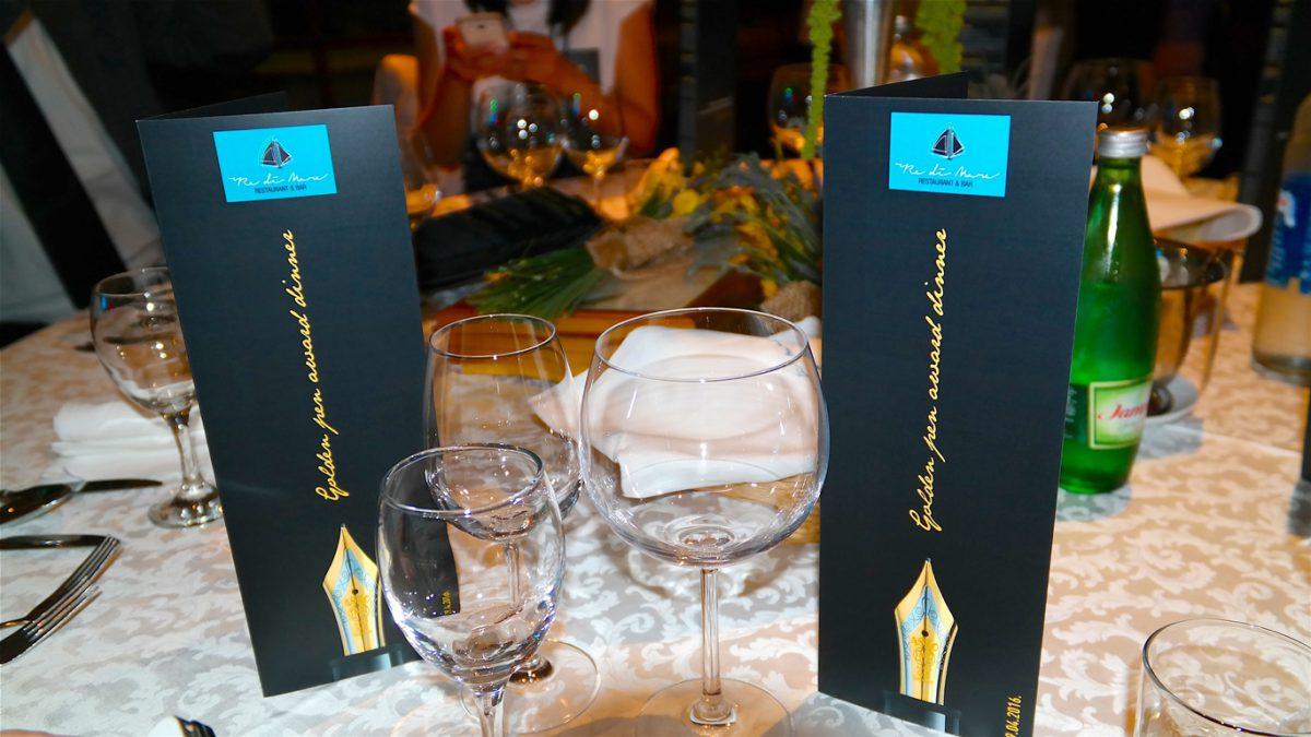 Galamiddag under Golden Pen Award 2016