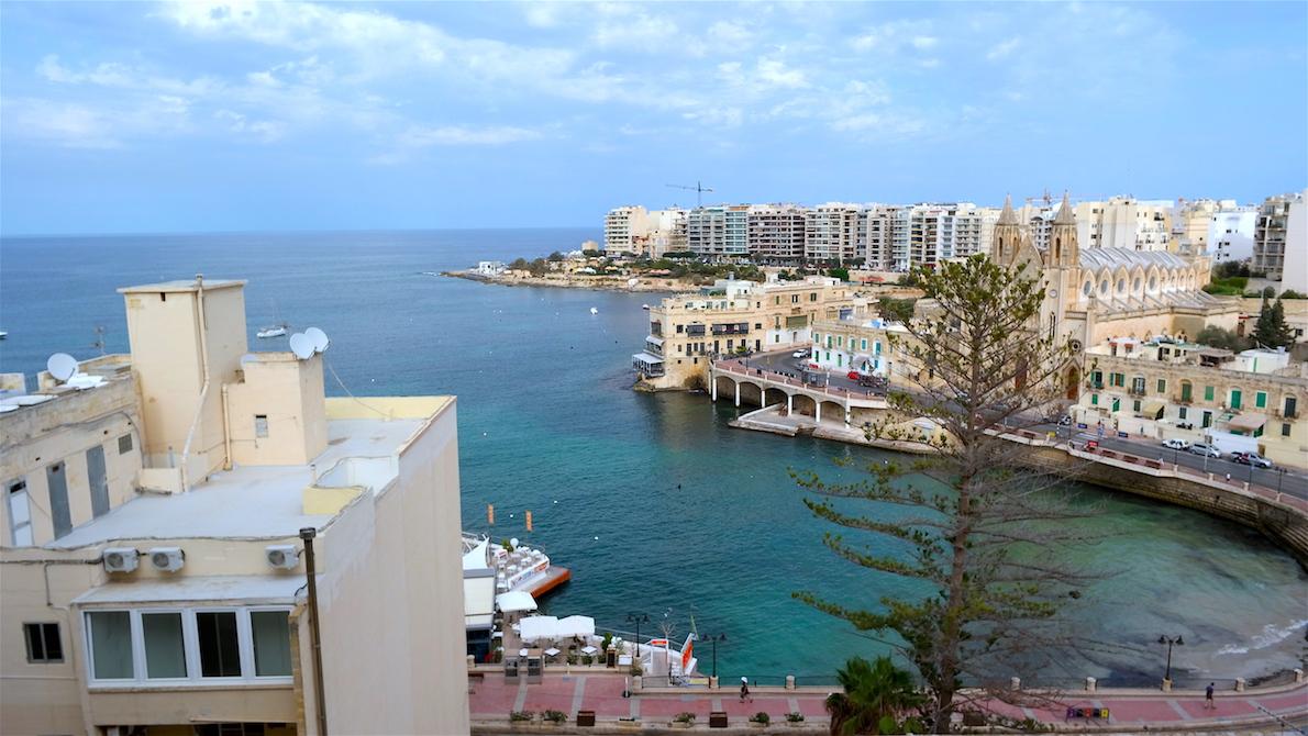 vår utsikt från balkongen