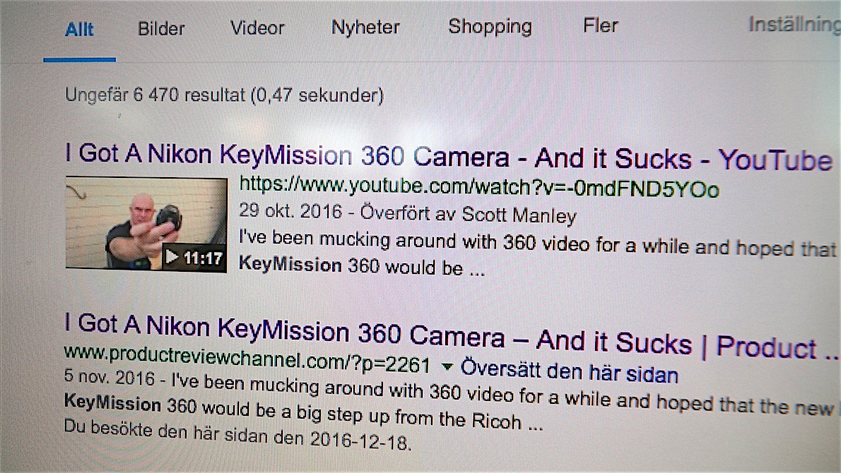 om Nikon 360 kamera