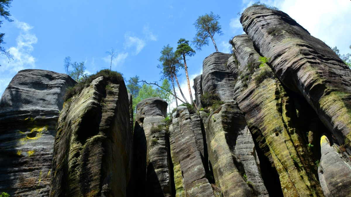 Adrspach rocks - coola bergsformationer i Tjeckien