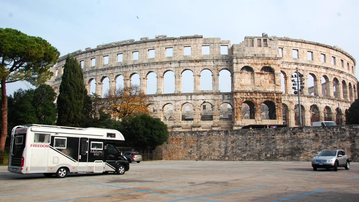 Amfiteatern i Pula Kroatien