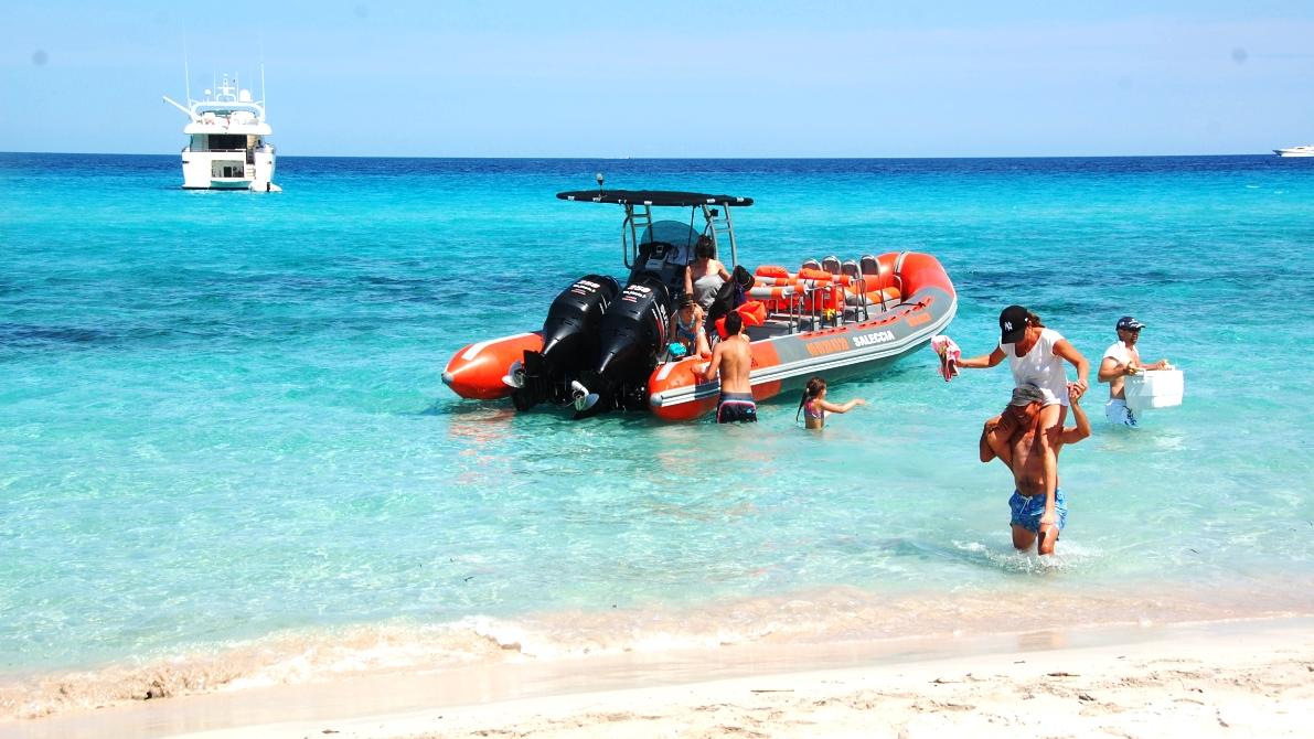 Båttaxi på Korsika