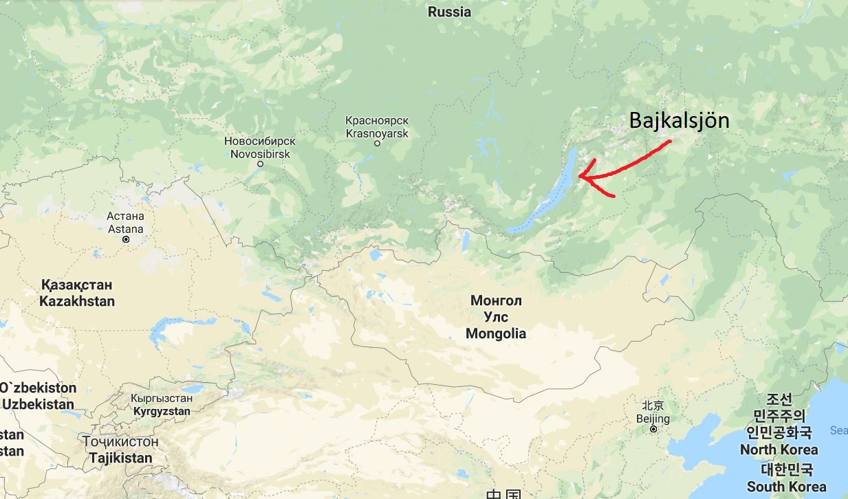 Bajkalsjön karta
