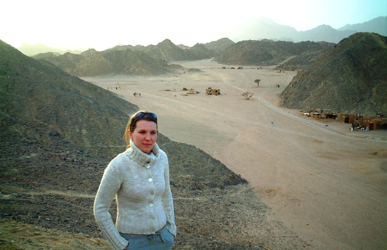 Helena i öknen i Egypten