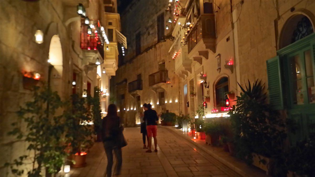 Ljusfestival på Malta