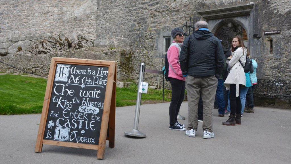 Blarney castle kyssa sten