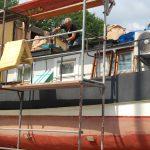 Rivning av husbåt