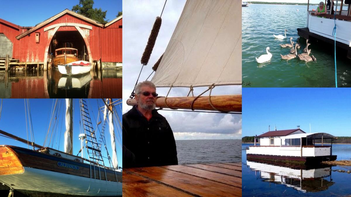 """Ole Lundberg eller """"Kapten Haddock"""" - sjöfartsbilder och bilder på husbåten"""