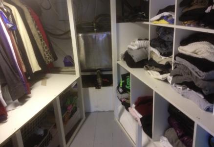 Crawl in closet