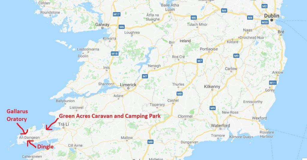 Halvön Dingle på Irland