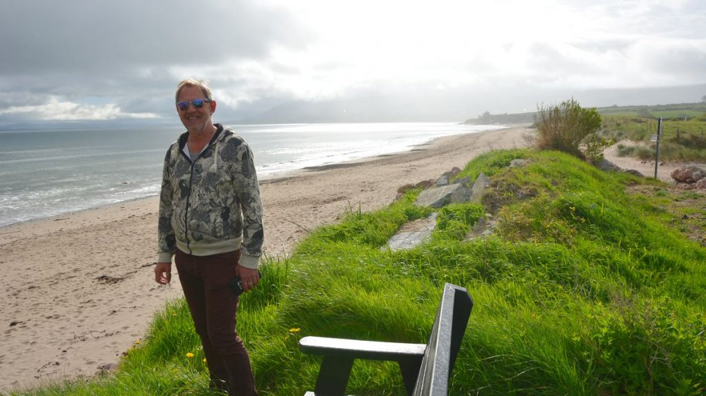 Dingle camping vid strand