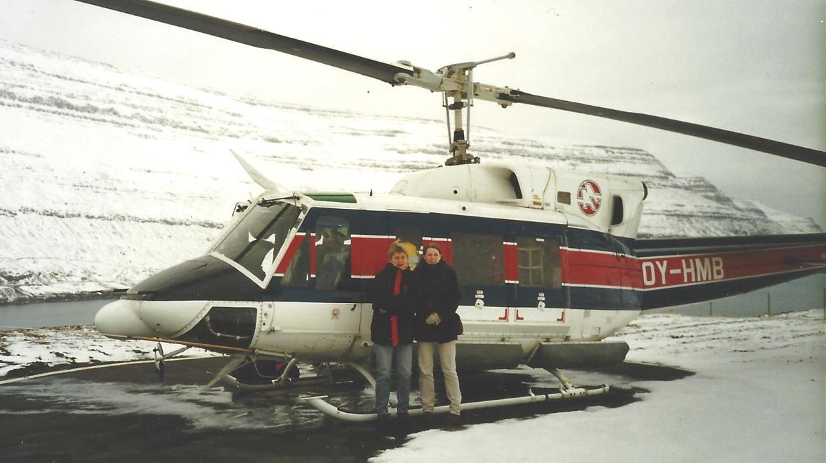 Färöarna helikopter