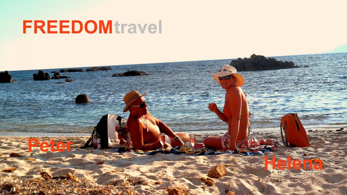 På stranden på Korsika sommaren 2015