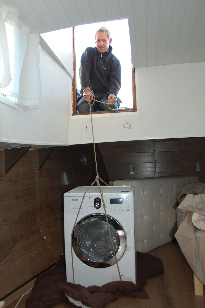 Fira ner tvättmaskin