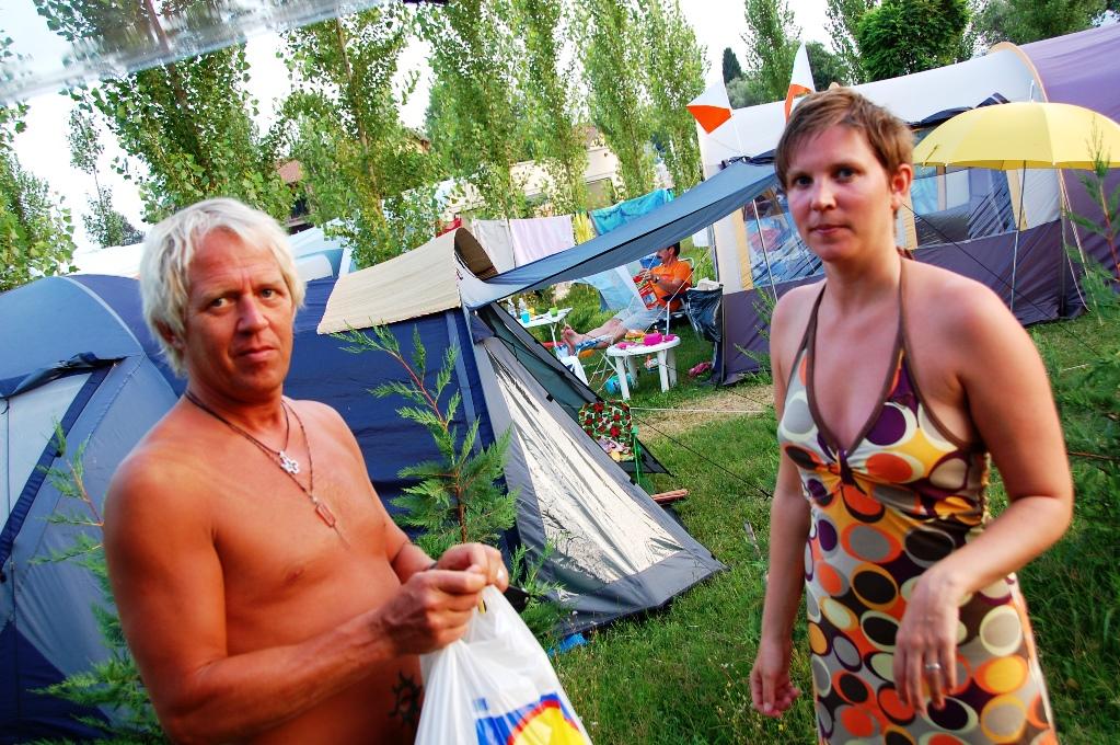 Peter och Helena på camping vid Gardasjön