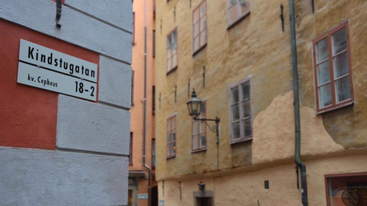 """Kindstugatan betyder """"Örfilsgatan"""" och har fått sitt namn efter ett beryktat slagsmål"""