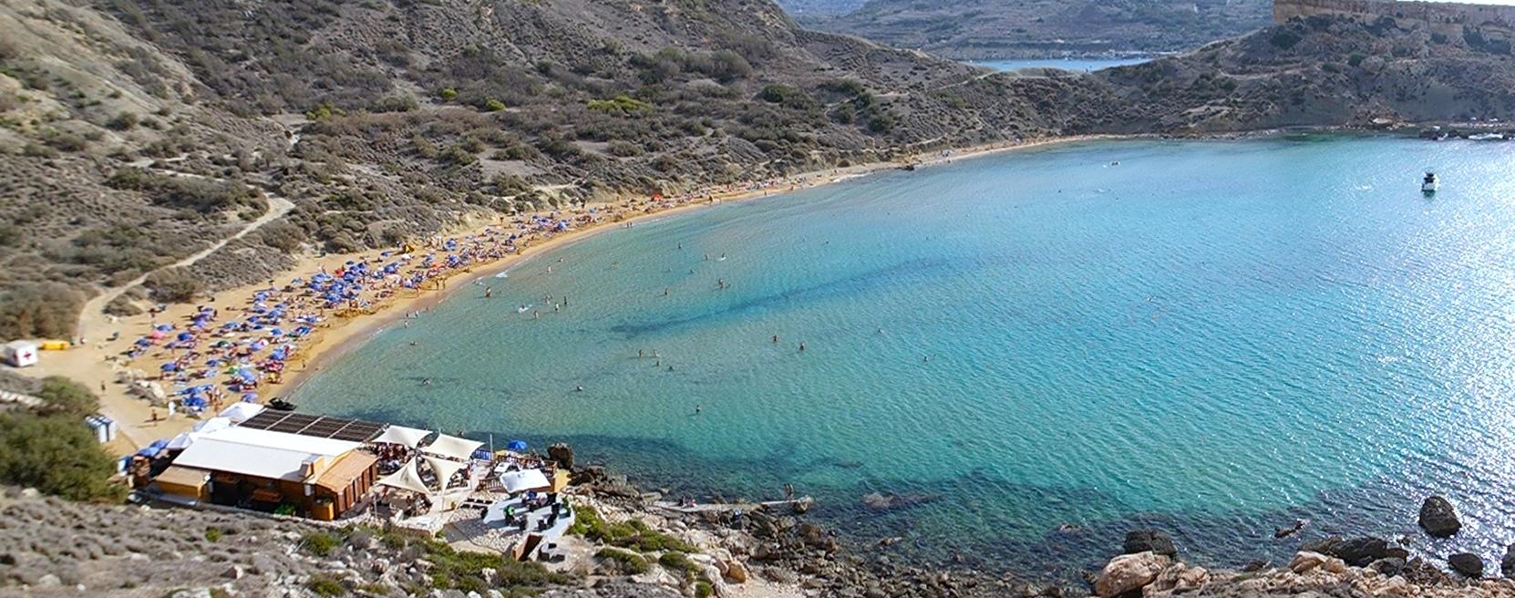 Ghajn Tuffieha beach på Malta
