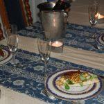 Pilgrimsmusslor och tonfiskfilé