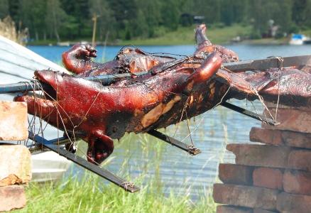 Hel gris til grilling