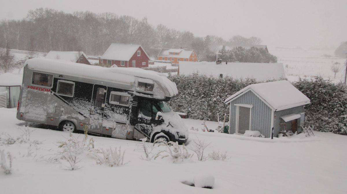 Husbil snö
