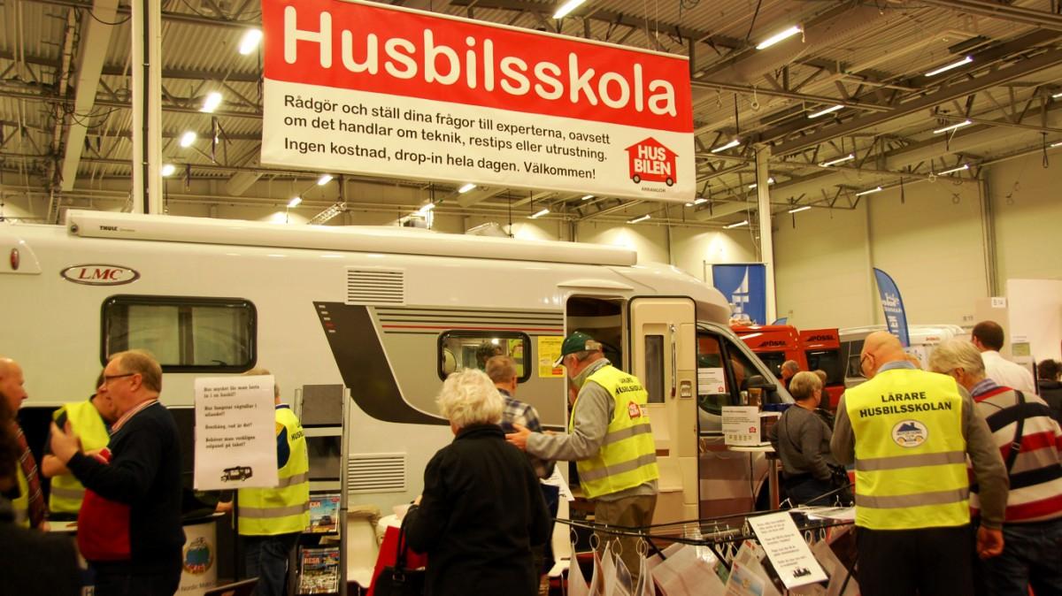 Husbilsskola på Caravan Stockholm 2016
