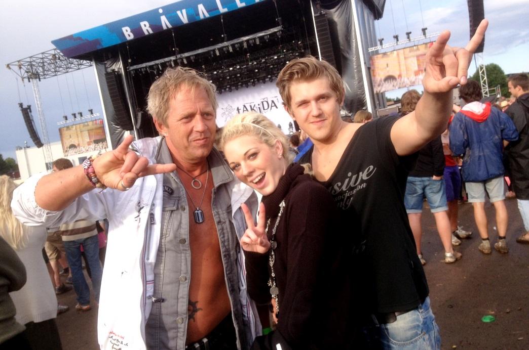 Peter, Alexandra och Robin i Bråvalla