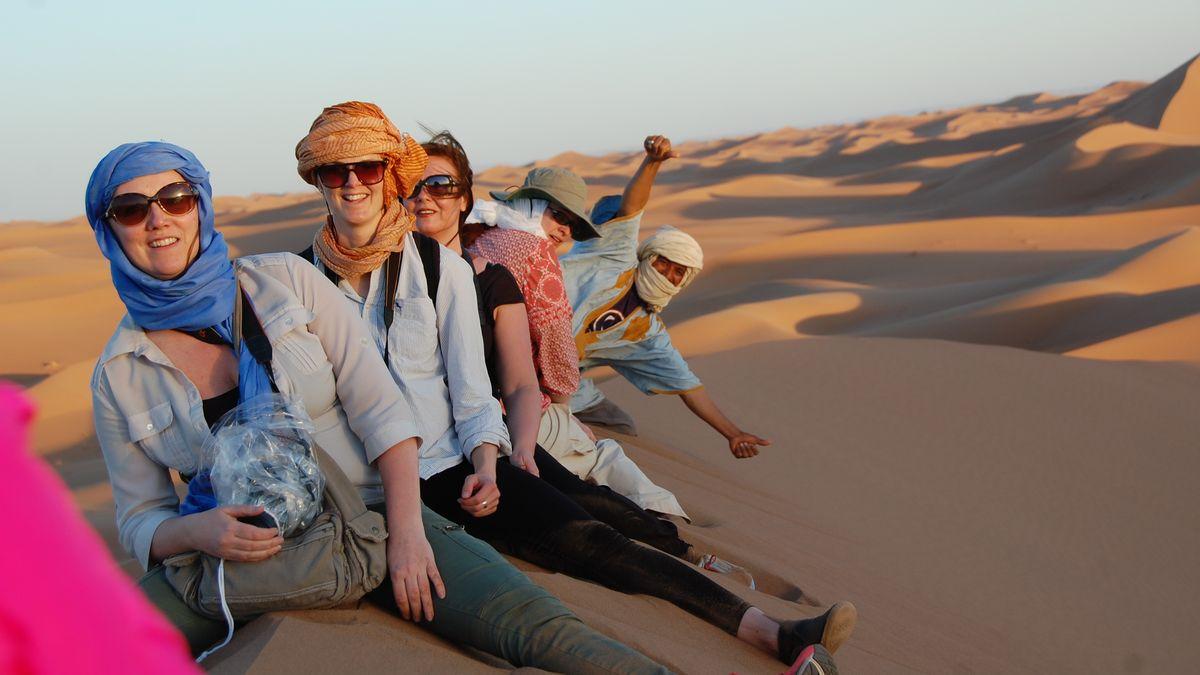 I Saharas öken
