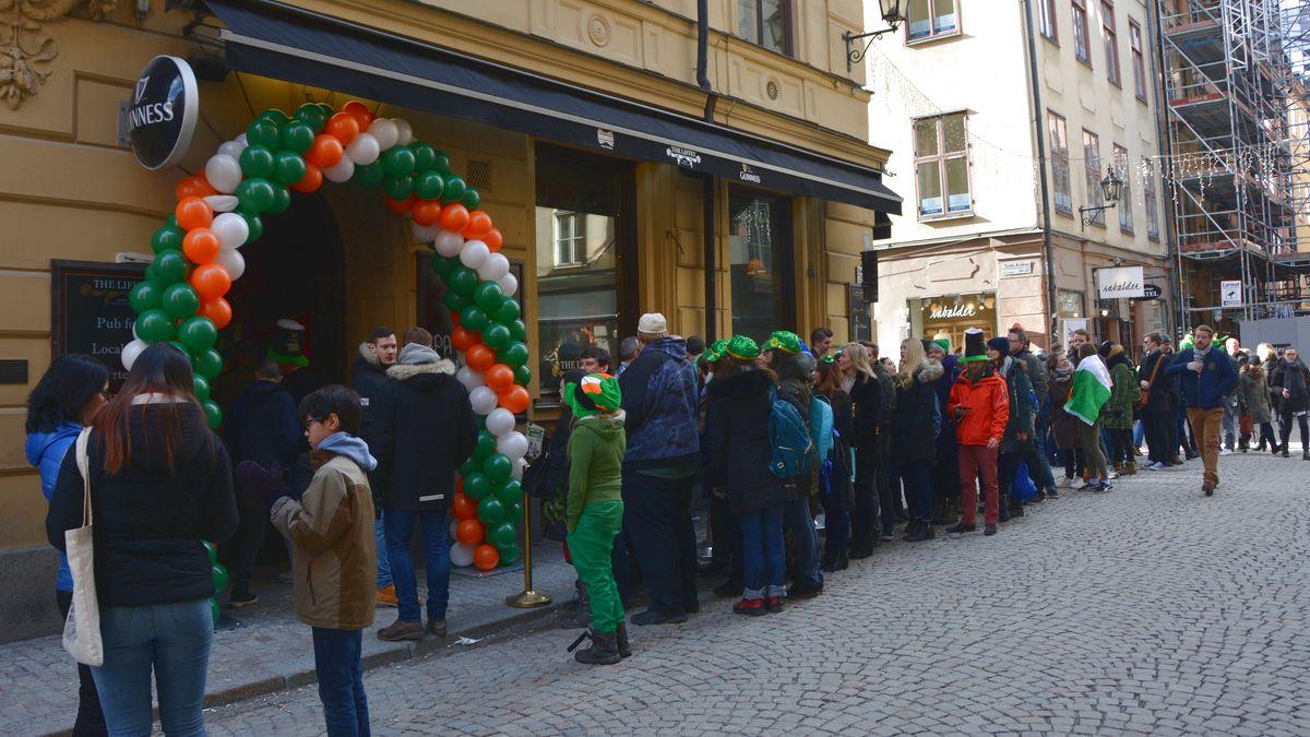 Irländsk pub St Patrick's Day