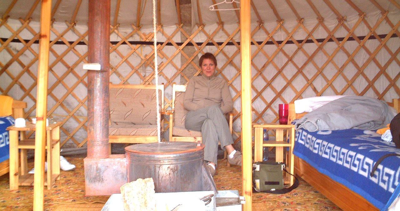 Inne i en jurta