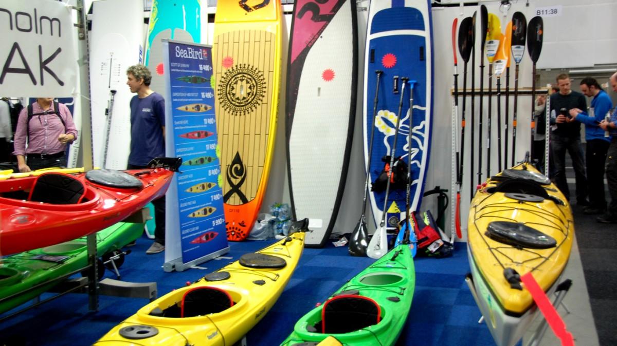 Kajaker och SUP (stand up paddle boarding) på Vildmarksmässan 2016