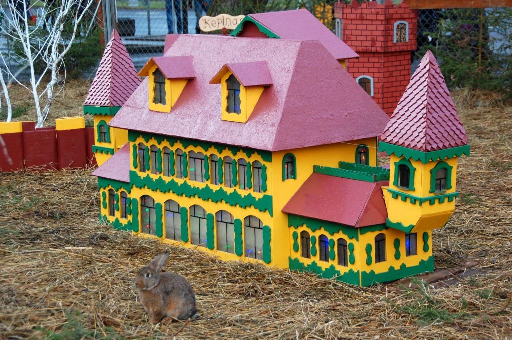Kaninernas kungadöme på julmarknaden på Esplanade i Riga