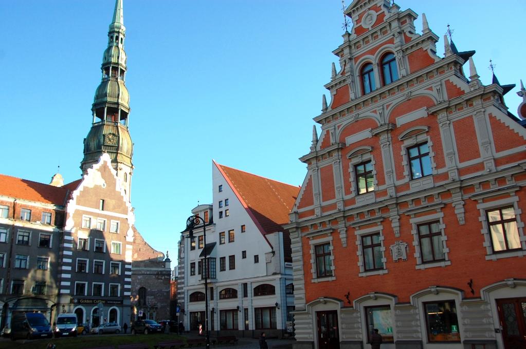 Tornet på St Peterskyrkan i Riga