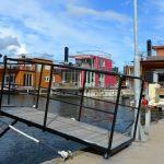 Att underhålla en husbåt – reparation av landgång