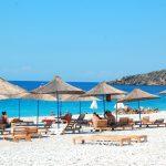 Campingliv vid Albaniens kust