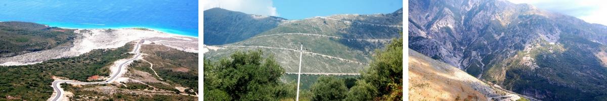 Albanien, Bergsvägar