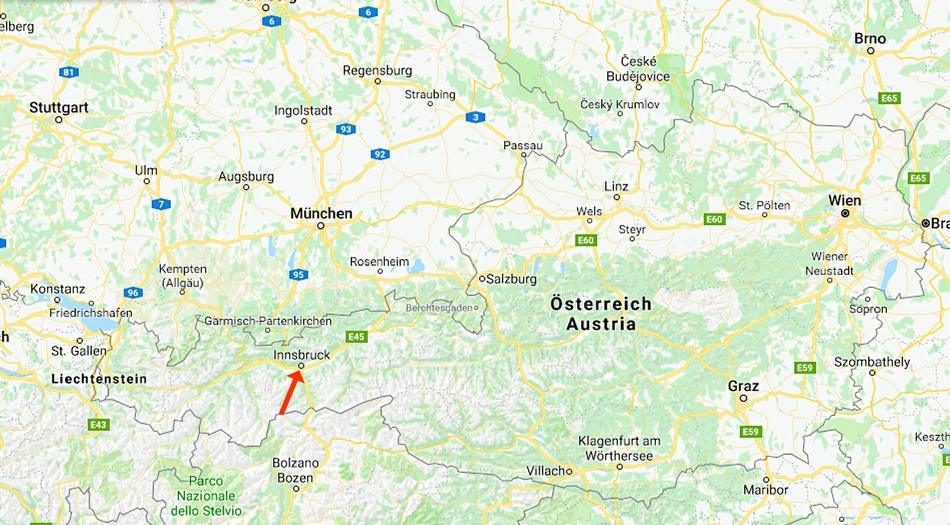 Österrike, Innsbruck, Kranebitten, Camping Innsbruk Kranebitten
