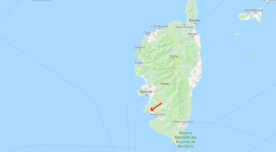 Korsika, Plage de Cupabia