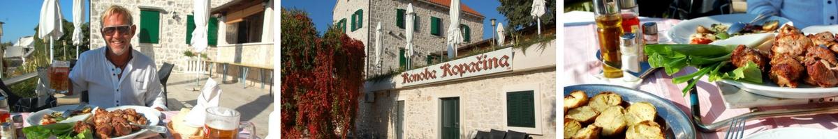 Kroatien, Brac, Restaurang Kopacina