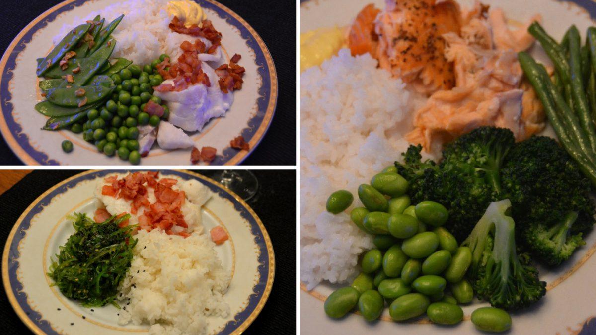 Mer fisk och grönsaker