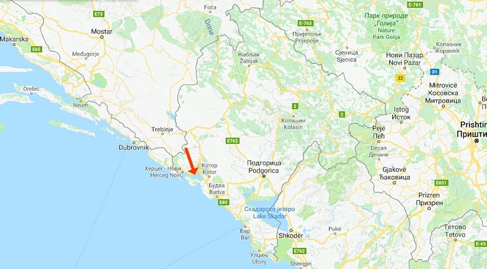 Montenegro, Kotorbukten, Morinj