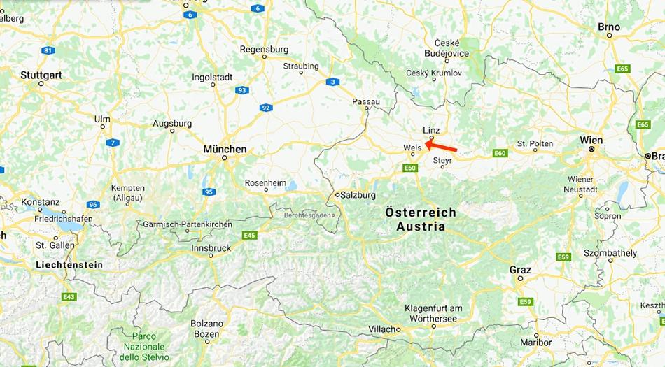 Österrike, Kremsmunster, camping Stadlhuber