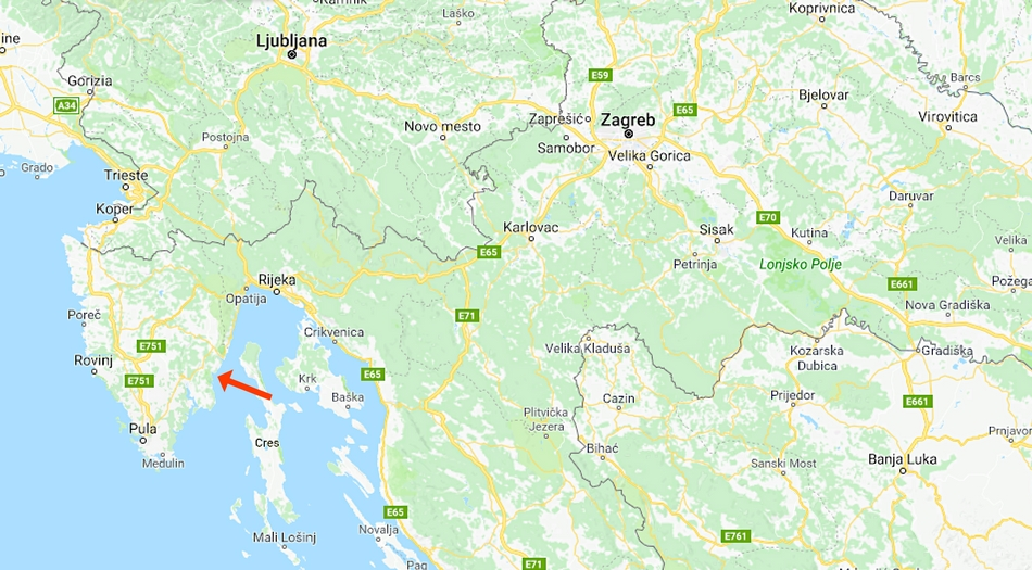 Kroatien, Istrien, Labin