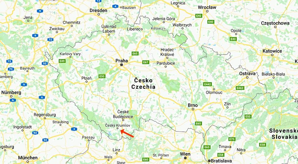Tjeckien, Cesky Krumlov