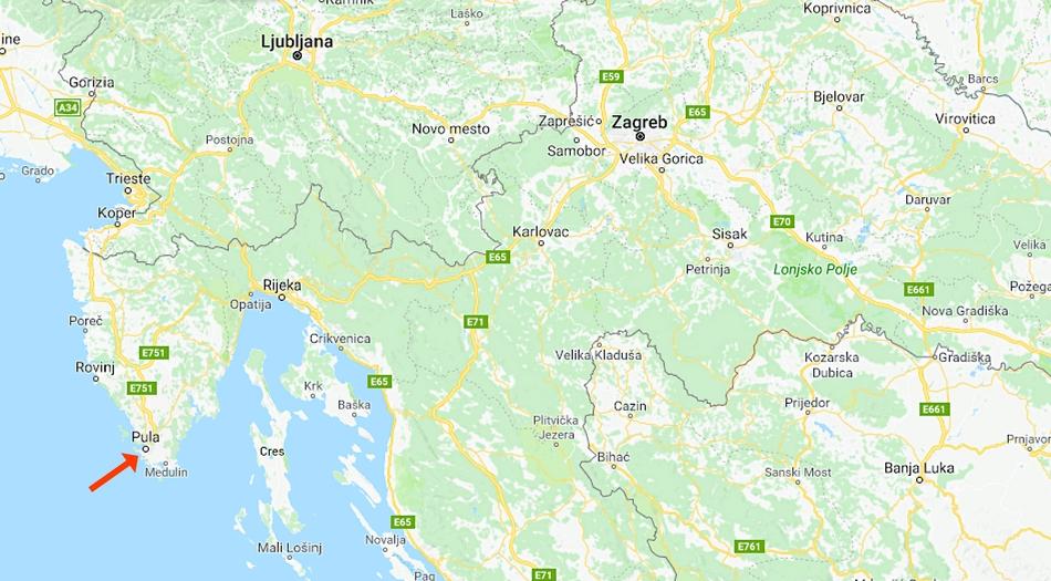 Kroatien, Istrien, Pula