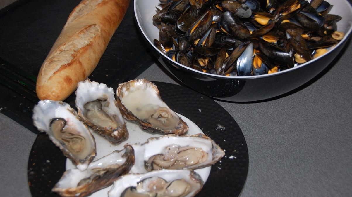 Ostron och musslor