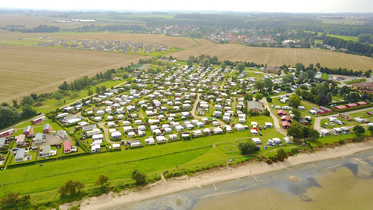 Ostsee camping drönarfoto