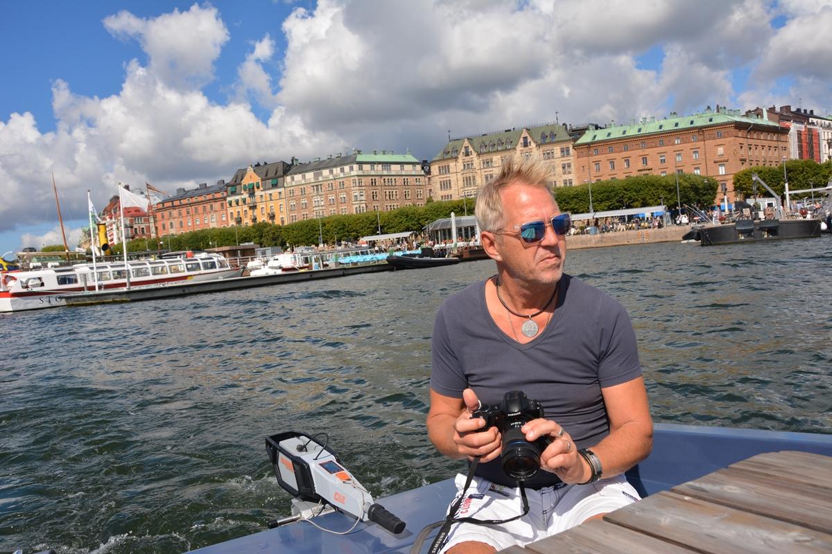 Picknickbåt i Stockholm